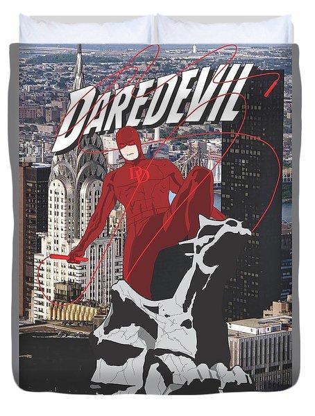 Daredevil Duvet Cover by Troy Arthur Graphics