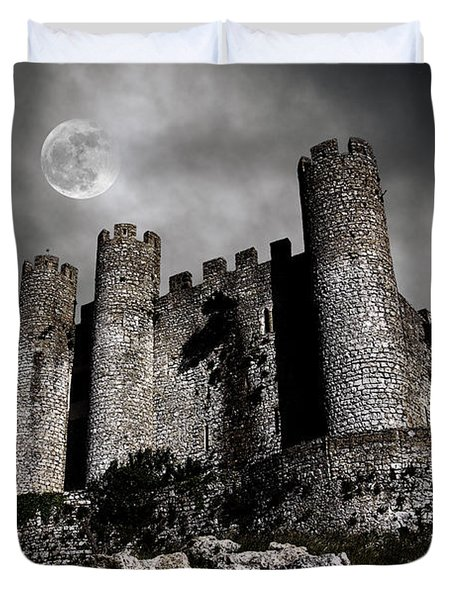 Dark Castle Duvet Cover by Carlos Caetano