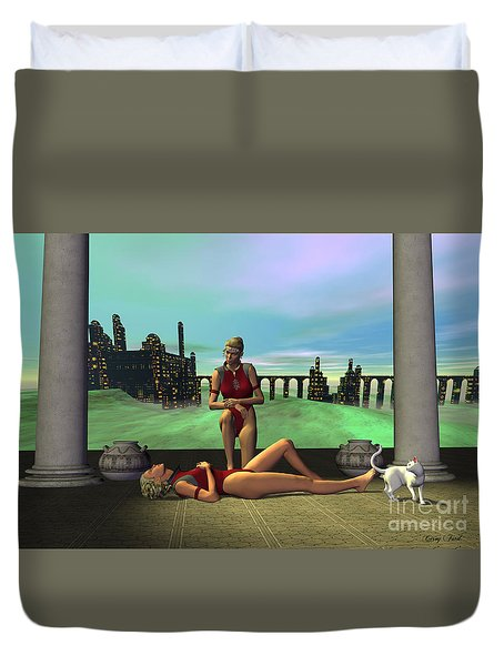 Dark Passion Duvet Cover by Corey Ford