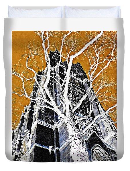 Dark Tower Duvet Cover by Sarah Loft