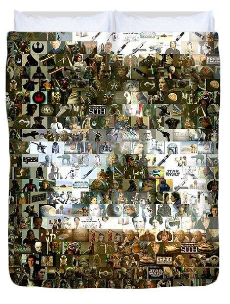 Darth Vader Mosaic Duvet Cover by Paul Van Scott