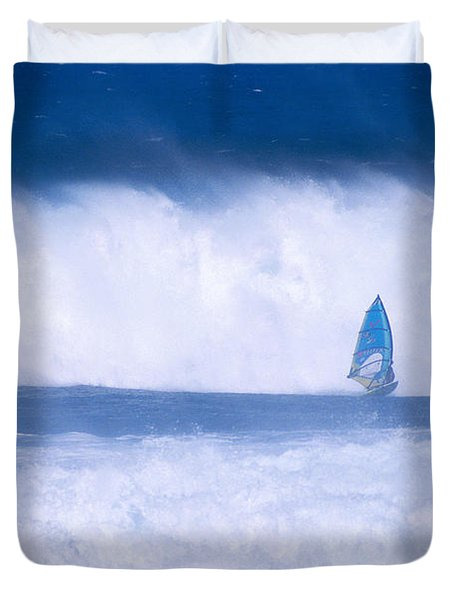 Dave Nash At HoOkipa Duvet Cover by Erik Aeder - Printscapes