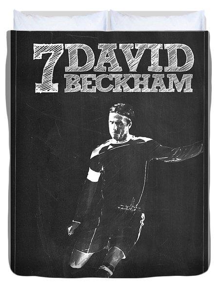 David Beckham Duvet Cover by Semih Yurdabak