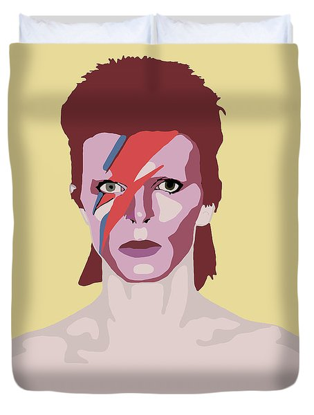 David Bowie Duvet Cover by Nicole Wilson