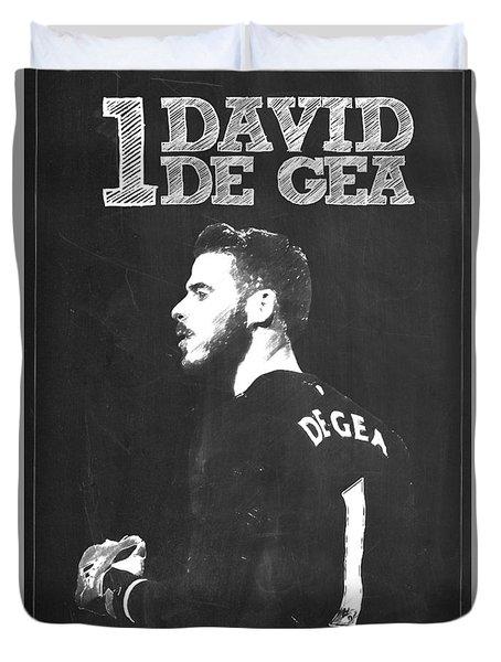 David De Gea Duvet Cover by Semih Yurdabak