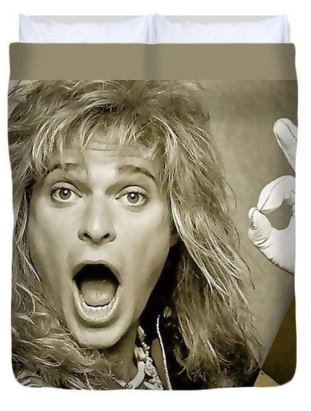 David Lee Roth Collection Duvet Cover by Marvin Blaine