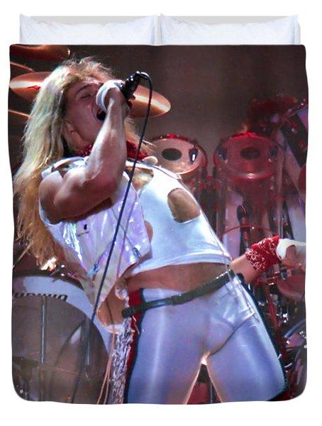 David Lee Roth - Van Halen  30 Duvet Cover by Vintage Rock Photos