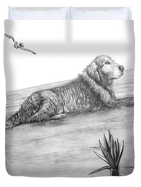 Day At The Beach Duvet Cover by Murphy Elliott