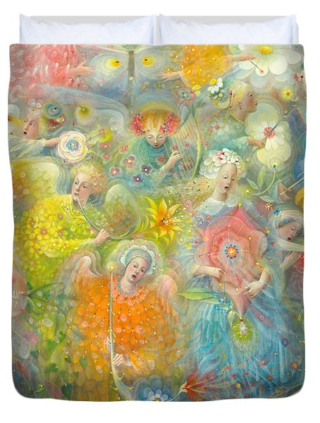 Daydream After The Music Of Max Reger Duvet Cover by Annael Anelia Pavlova