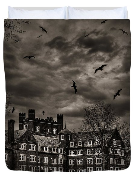 Daydreams Darken Into Nightmares Duvet Cover by Evelina Kremsdorf