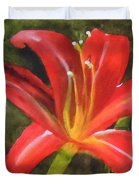 Daylily Study Iv Duvet Cover by Jean Blackmer