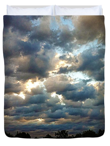 Deceptive Clouds Duvet Cover by Cricket Hackmann
