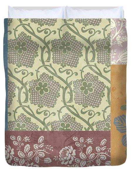 Deco Flower Patchwork 2 Duvet Cover by JQ Licensing