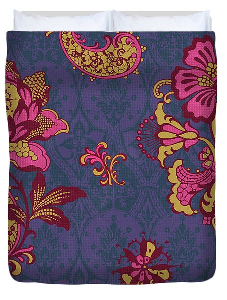 Deco Flower Purple Duvet Cover by JQ Licensing