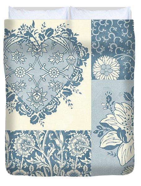 Deco Heart Blue Duvet Cover by JQ Licensing