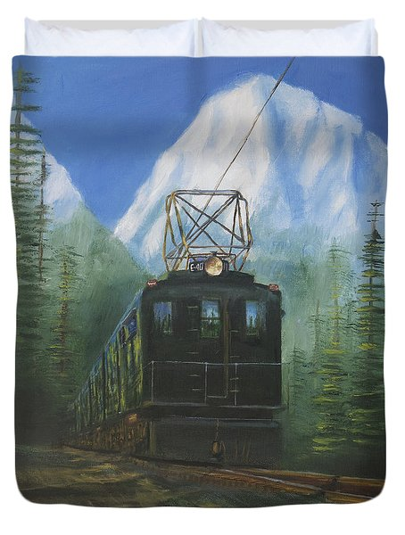 Deep In The Cascades Duvet Cover by Christopher Jenkins
