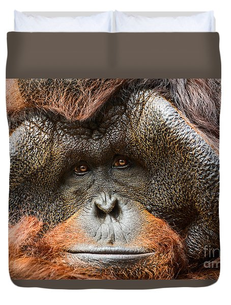 Deep In Thought Duvet Cover by Jamie Pham