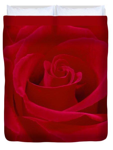 Deep Red Rose Duvet Cover by Mike McGlothlen