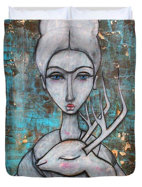 Deer Frida Duvet Cover by Natalie Briney