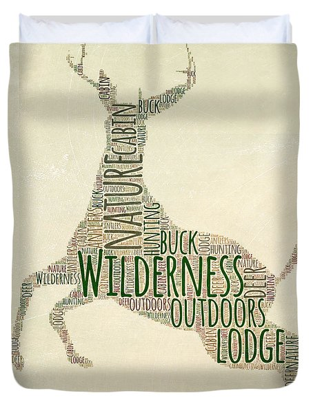 Deer Leaping Duvet Cover by Brandi Fitzgerald