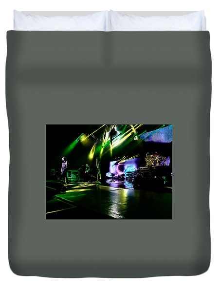 Def Leppard At Saratoga Springs 4 Duvet Cover by David Patterson