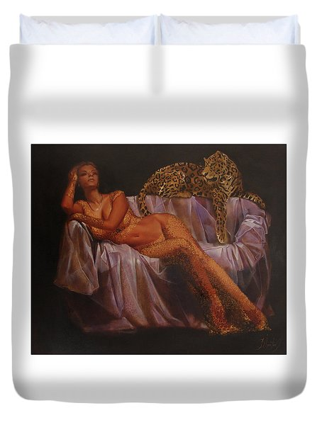 Def Leppard Duvet Cover by Sergey Ignatenko