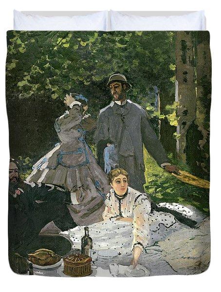 Dejeuner Sur Lherbe Duvet Cover by Claude Monet