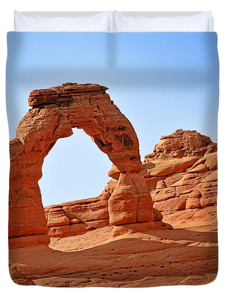 Delicate Arch The Arches National Park Utah Duvet Cover by Christine Till