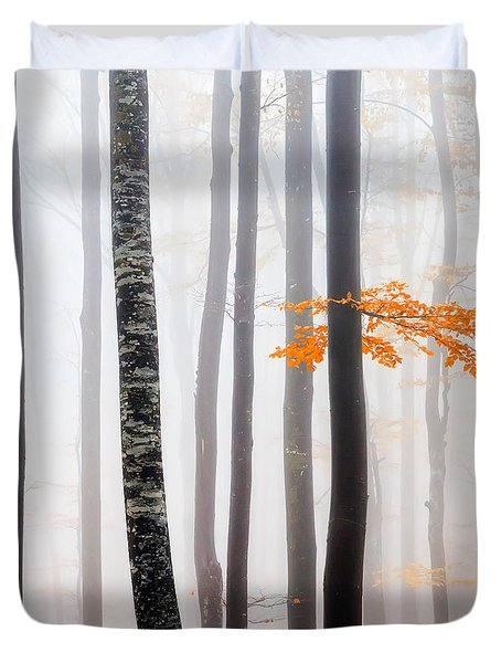Delicate Forest Duvet Cover by Evgeni Dinev