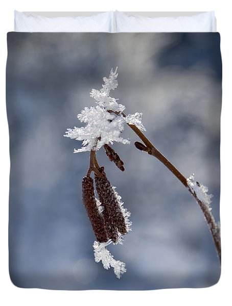 Delicate Winter Duvet Cover by Mike  Dawson