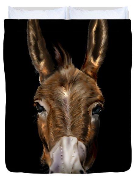 Dem-donkey Duvet Cover by Reggie Duffie