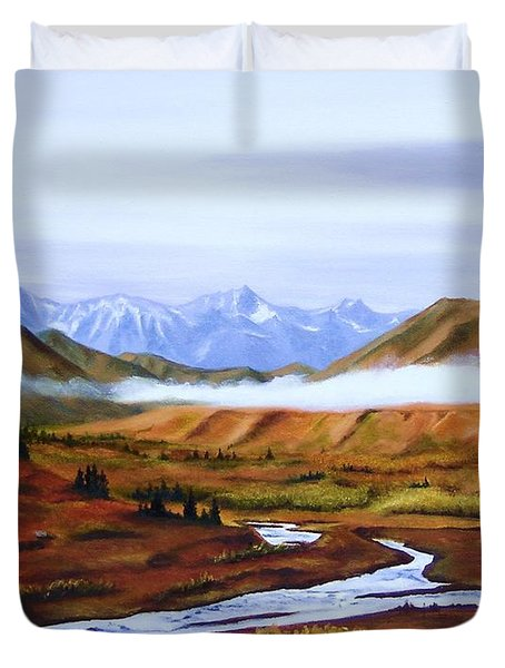Denali Autumn Duvet Cover by Mary Rogers