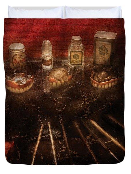 Dental Lab - Denture Repair  Duvet Cover by Mike Savad