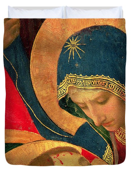 Deposition From The Cross Duvet Cover by Fra Angelico