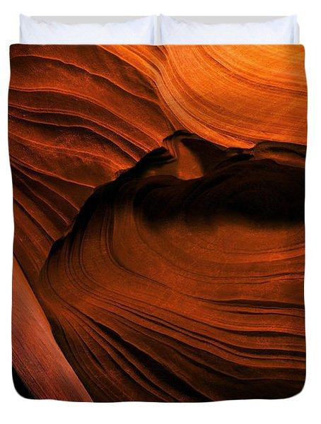 Desert Carvings Duvet Cover by Mike  Dawson