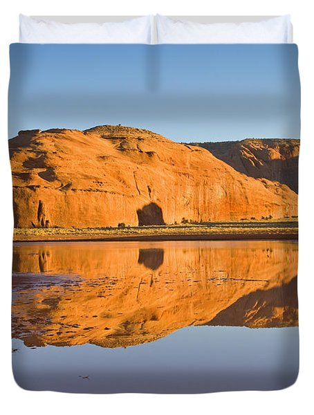 Desert Pools Duvet Cover by Mike  Dawson