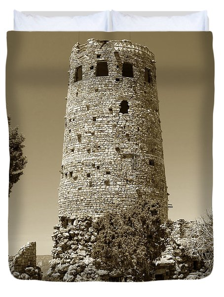 Desert Tower Work Number 2 Duvet Cover by David Lee Thompson