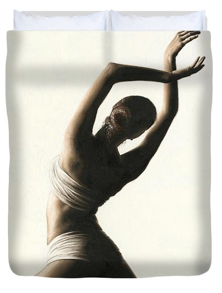 Devotion To Dance Duvet Cover by Richard Young