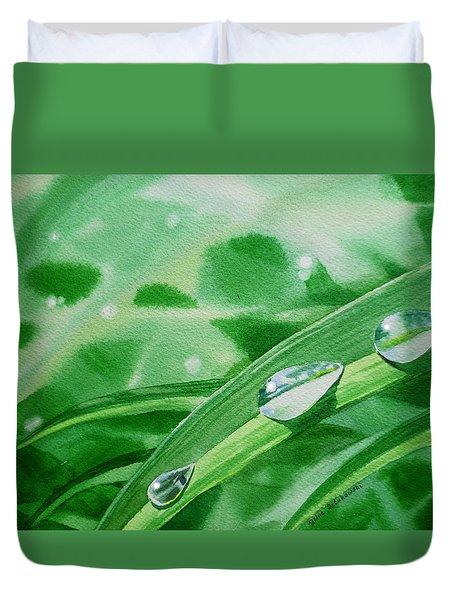 Dew Drops Duvet Cover by Irina Sztukowski