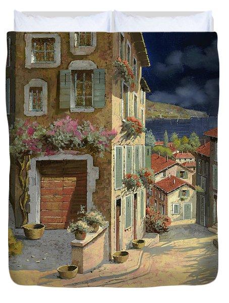 Di Notte Al Mare Duvet Cover by Guido Borelli