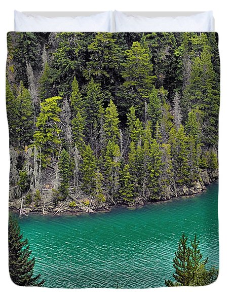 Diabolo Lake North Cascades NP WA Duvet Cover by Christine Till