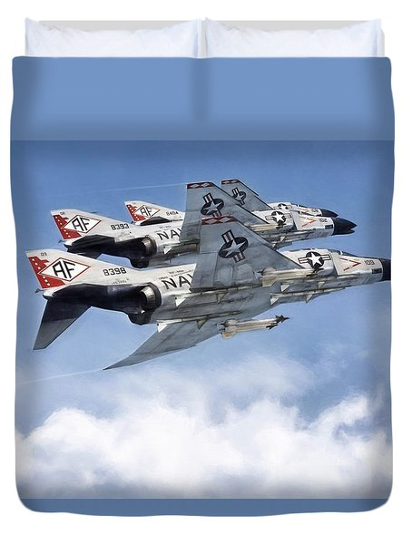 Diamonback Echelon Duvet Cover by Peter Chilelli