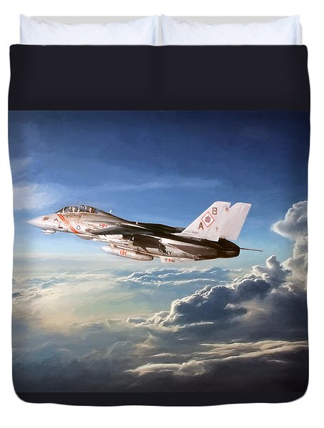 Diamonds In The Sky Duvet Cover by Peter Chilelli