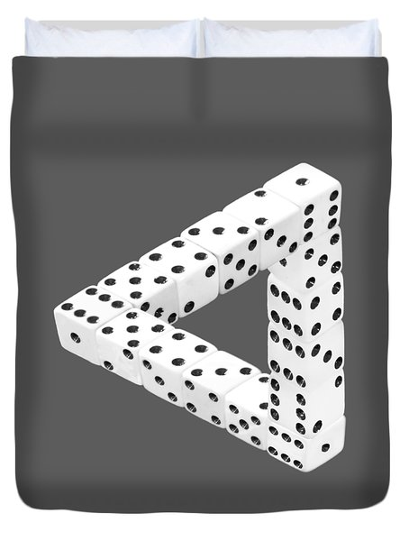 Dice Illusion Duvet Cover by Shane Bechler