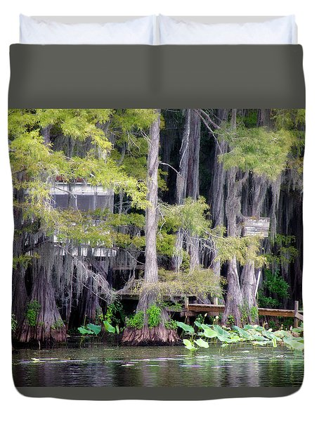Dick And Charlies Tea Room Duvet Cover by Lana Trussell
