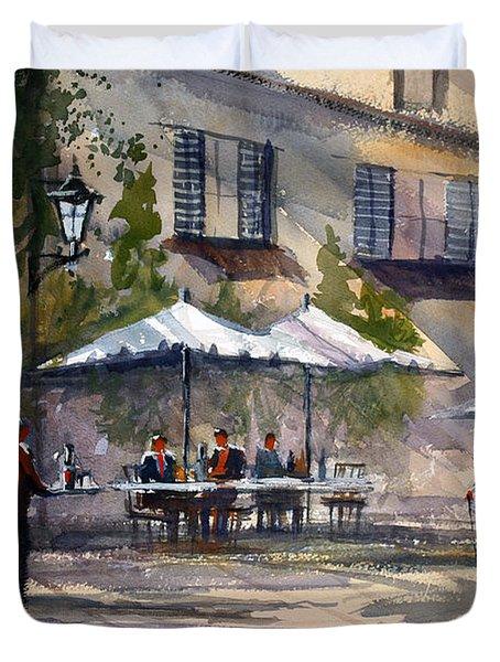 Dining Alfresco Duvet Cover by Ryan Radke