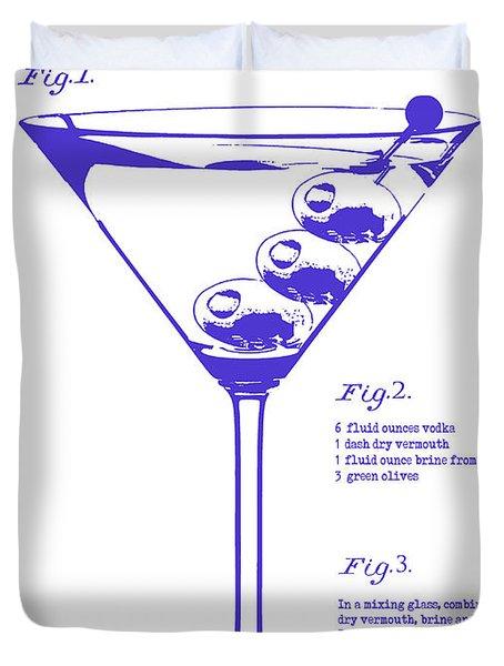 Dirty Martini Blueprint Duvet Cover by Jon Neidert