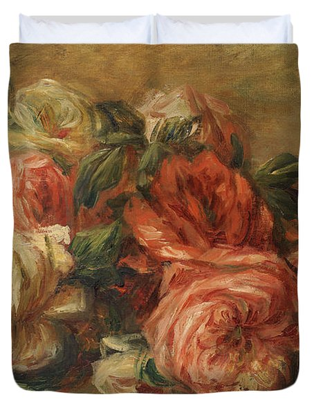 Discarded Roses  Duvet Cover by Pierre Auguste Renoir