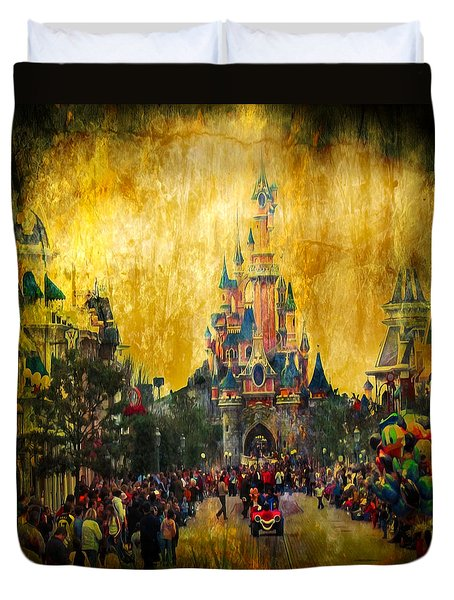 Disney World Duvet Cover by Svetlana Sewell