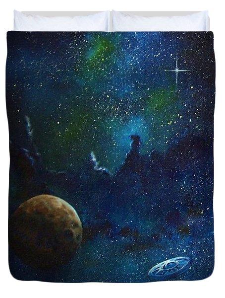 Distant Nebula Duvet Cover by Murphy Elliott